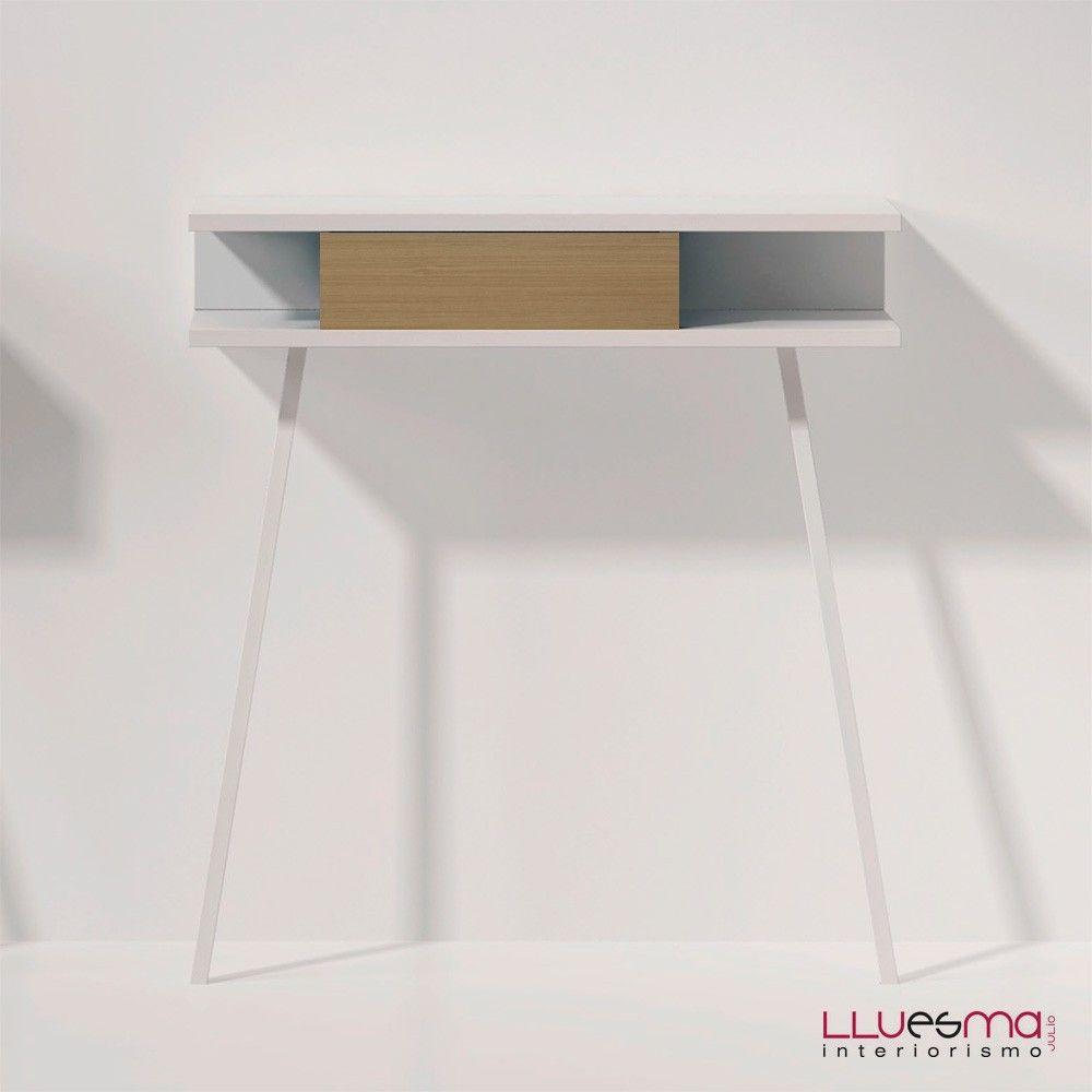 Cónsola Passing LACA cajón MADERA de Arlex. Muebles de diseño. Cónsolas y espejos
