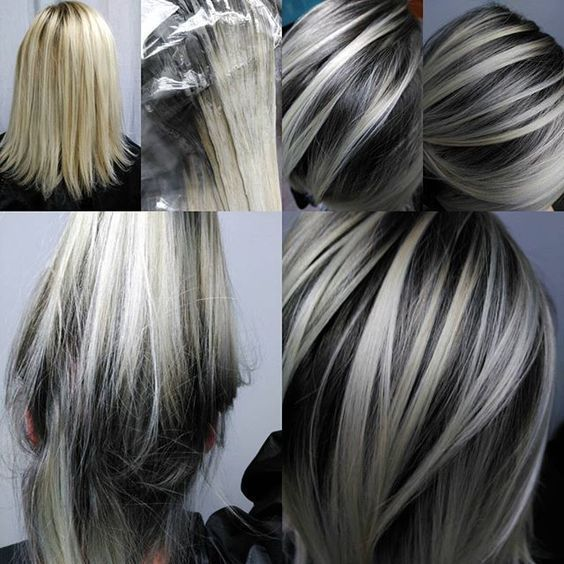 Image Result For Gray Hair Highlights And Lowlights Ahead Of The