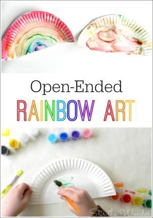 Open Ended Rainbow Art For Kids Play Activities For Kids