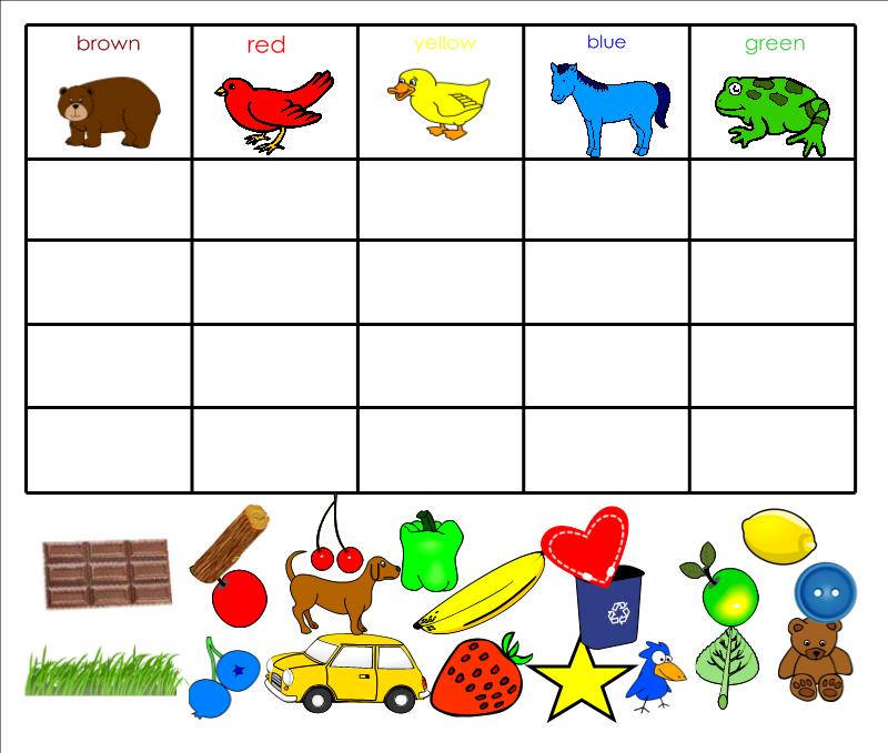 brown bear color sort what i learned in kindergarten smartboard freebie colors smart board. Black Bedroom Furniture Sets. Home Design Ideas