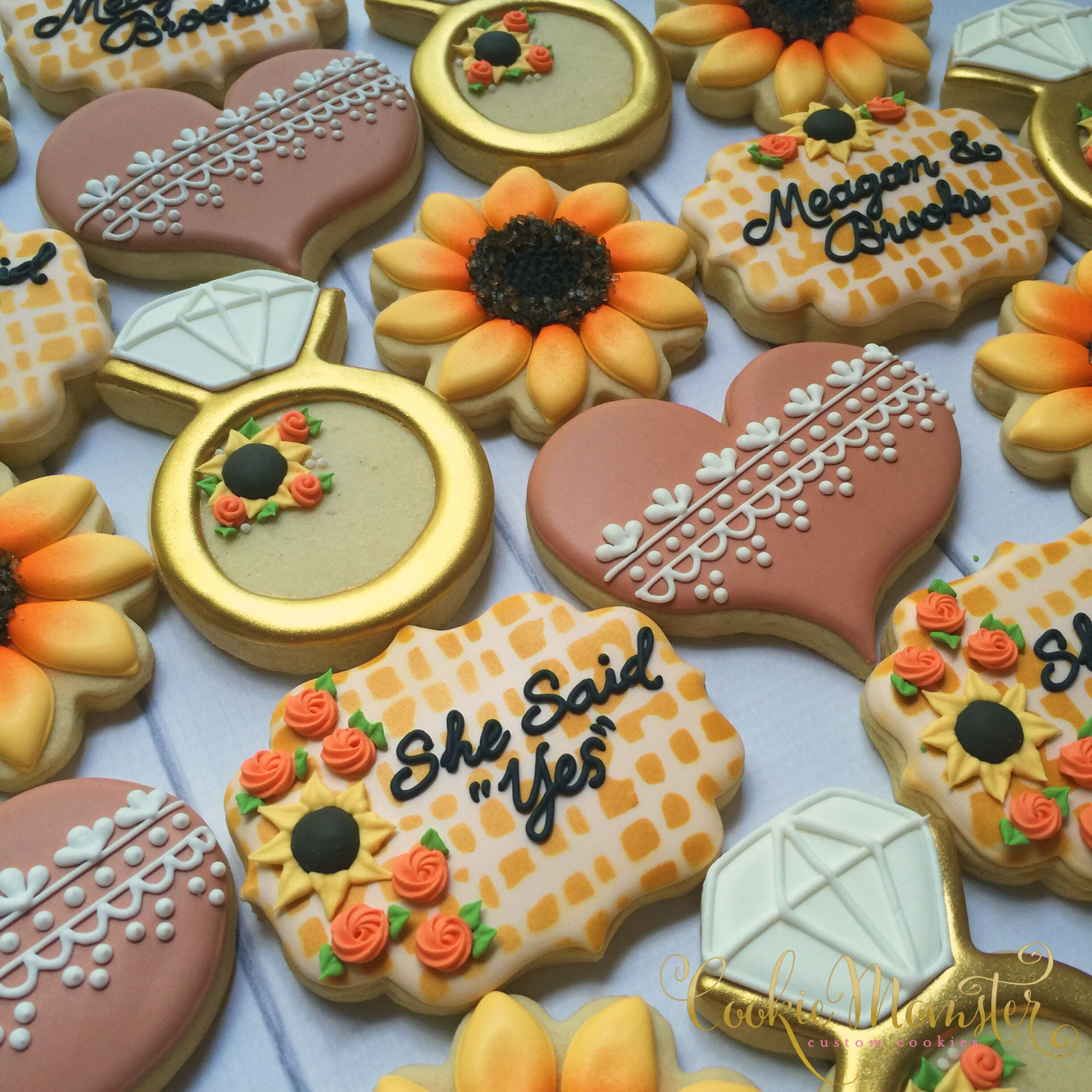 Cookie Momster by Hilary Sunflower Bridal Cookies Cookies