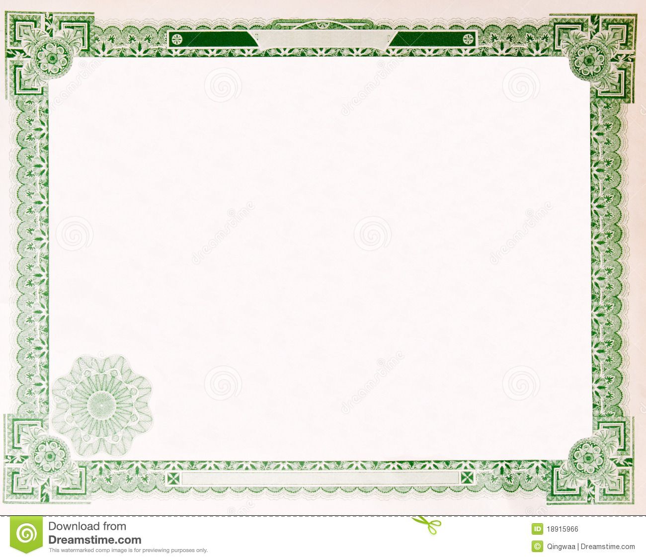 Old Vintage Stock Certificate Empty Border 1914 Stock Photo Image Of Frame Photography 1891 Certificate Templates Stock Certificates Certificate Background