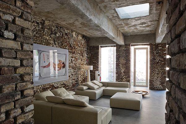 Dusseldorf Loft Warehouse Conversion by AABE Living in a Loft - industrial chic wohnzimmer