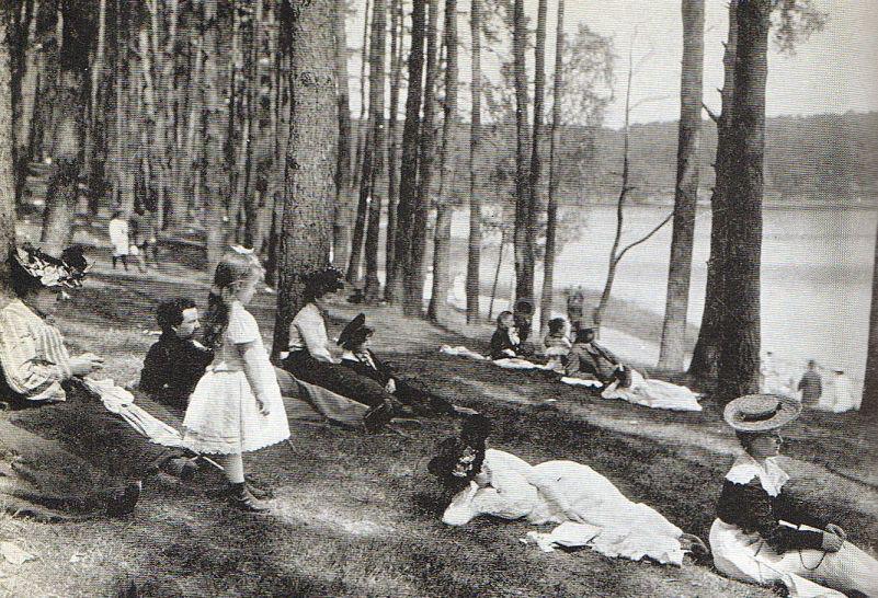 Berlin, Sonntagsausflug Grunewald, 1904.