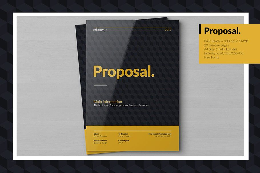 Creative Proposal Proposal Creative Templates Brochure Aesthetic