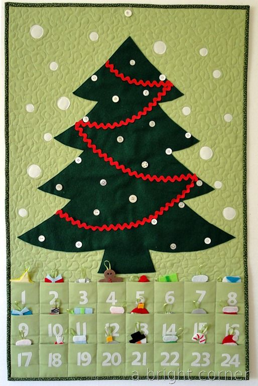 advent-make your own advent tree! Holiday Goods Pinterest Felt