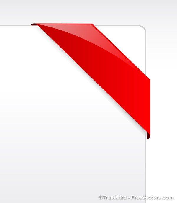 Corner Ribbon Frame Vector Free Red Ribbon Free Vector Art