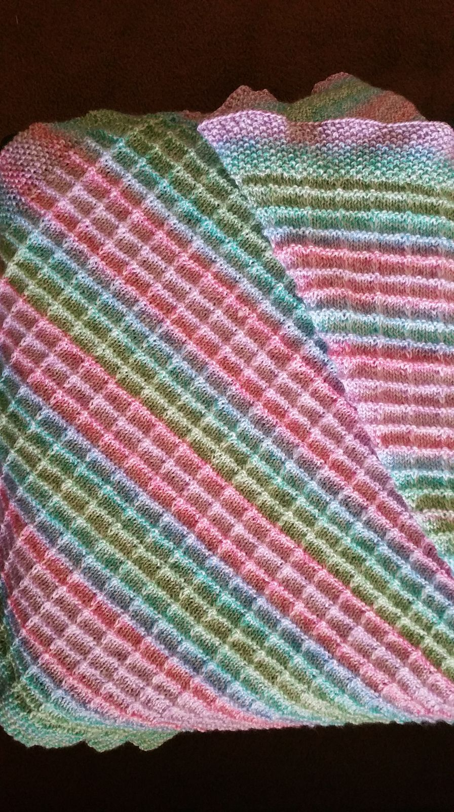 Box Stitch Baby Blanket pattern by TinkTerp Designs | Blanket ...