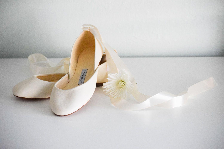 b526910d7b9 Ivory Bridal Ballet Flats by The White Ribbon