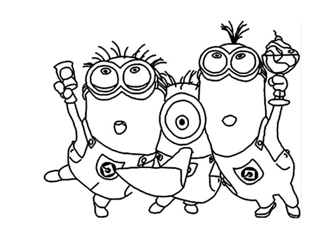 To print coloring minions 1 click on the printer icon at the