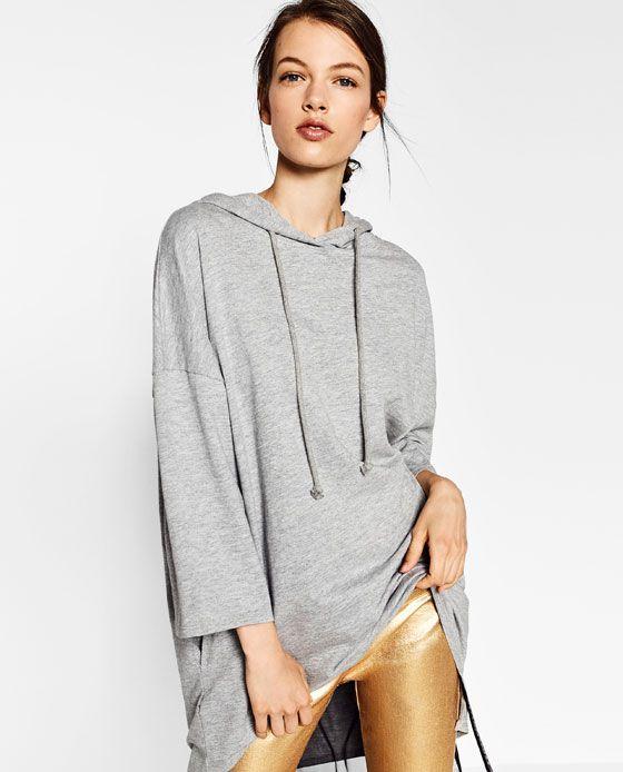 bb6473e0 Image 2 of OVERSIZED HOODED SWEATSHIRT from Zara | Fashion | Hooded ...