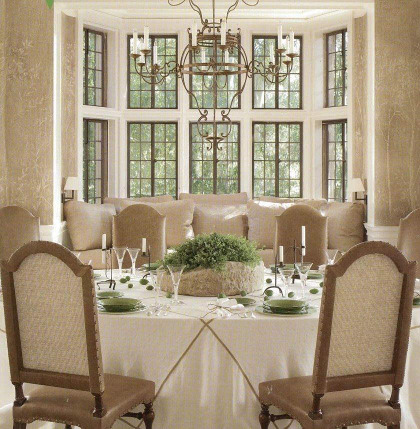 Furniture Dining Room Luxury Design Ideas With Table Decor And Classic Chandleier Also