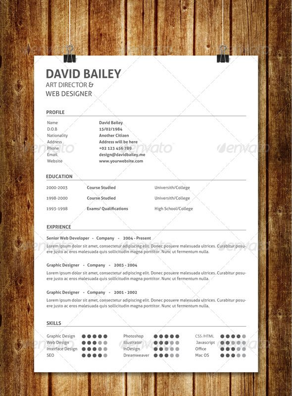 Simple Clean Resume V6