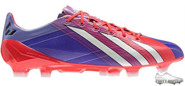 0b0ecd7f9 Leo Messi adidas F50 adiZero - Turbo   Blast Purple   White ...