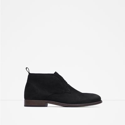 18304231723 Image 1 of LEATHER DESERT BOOTS from Zara | Loafers | Desert boots ...