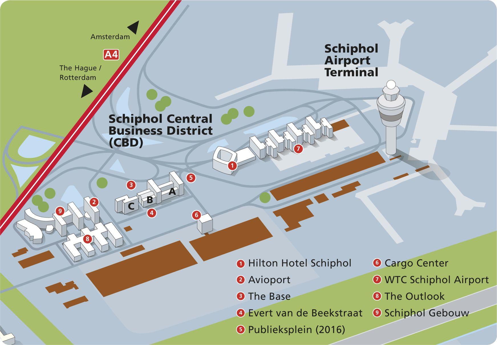 Image Result For Schiphol Map Gebouwen