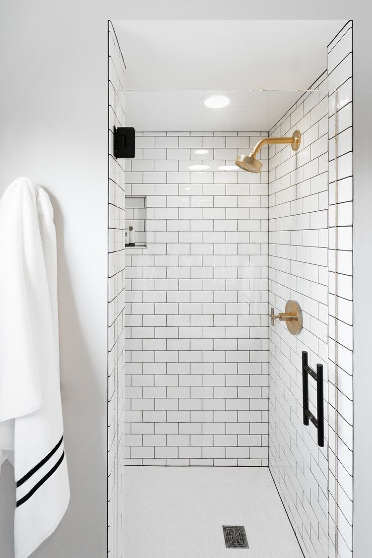 Our Best Bathrooms of All Time | White tile shower, Tile showers and ...