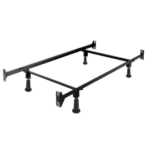 Twin High Rise Metal Bed Frame with Headboard and Footboard Brackets