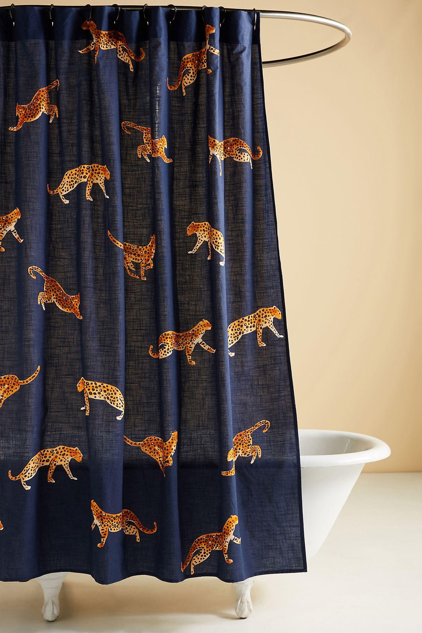 Leopard Shower Curtain Anthropologie In 2020 Bathroom Trends