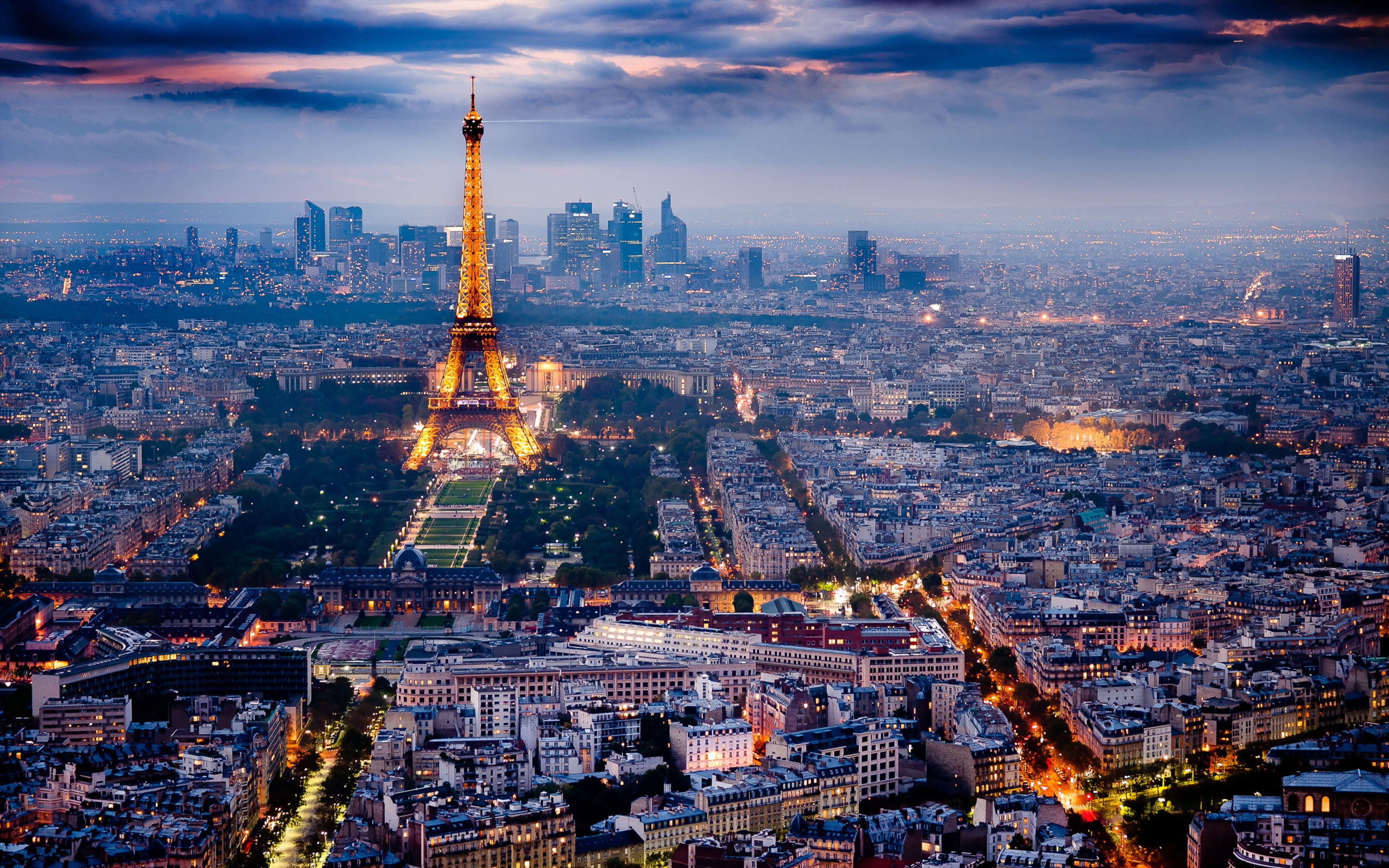 Wallpaper Download 5120x3200 Landscape Paris Night View