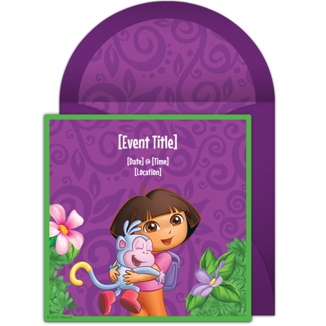 Free Dora Party Invitations – Party Online Invitations