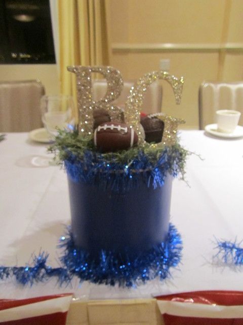 Hs Football Banquet Center Piece Made From Coffee Can And