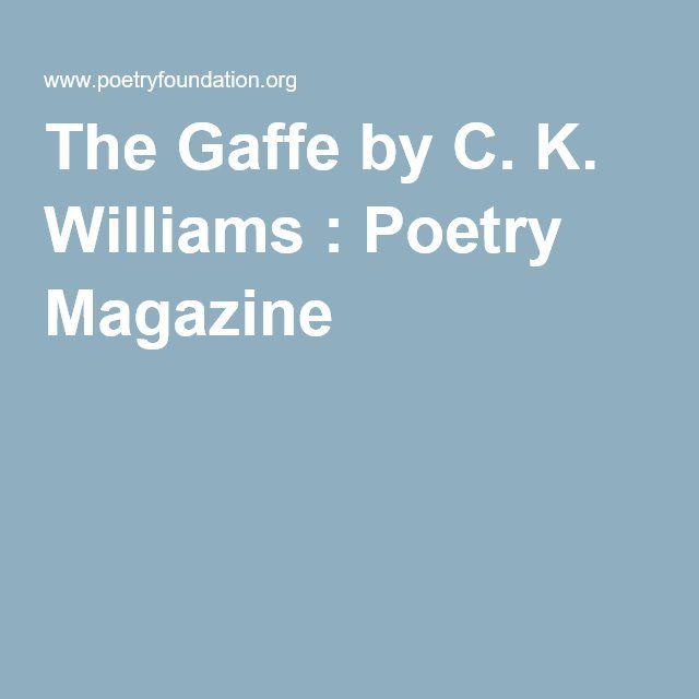 C K Williams Poems 2