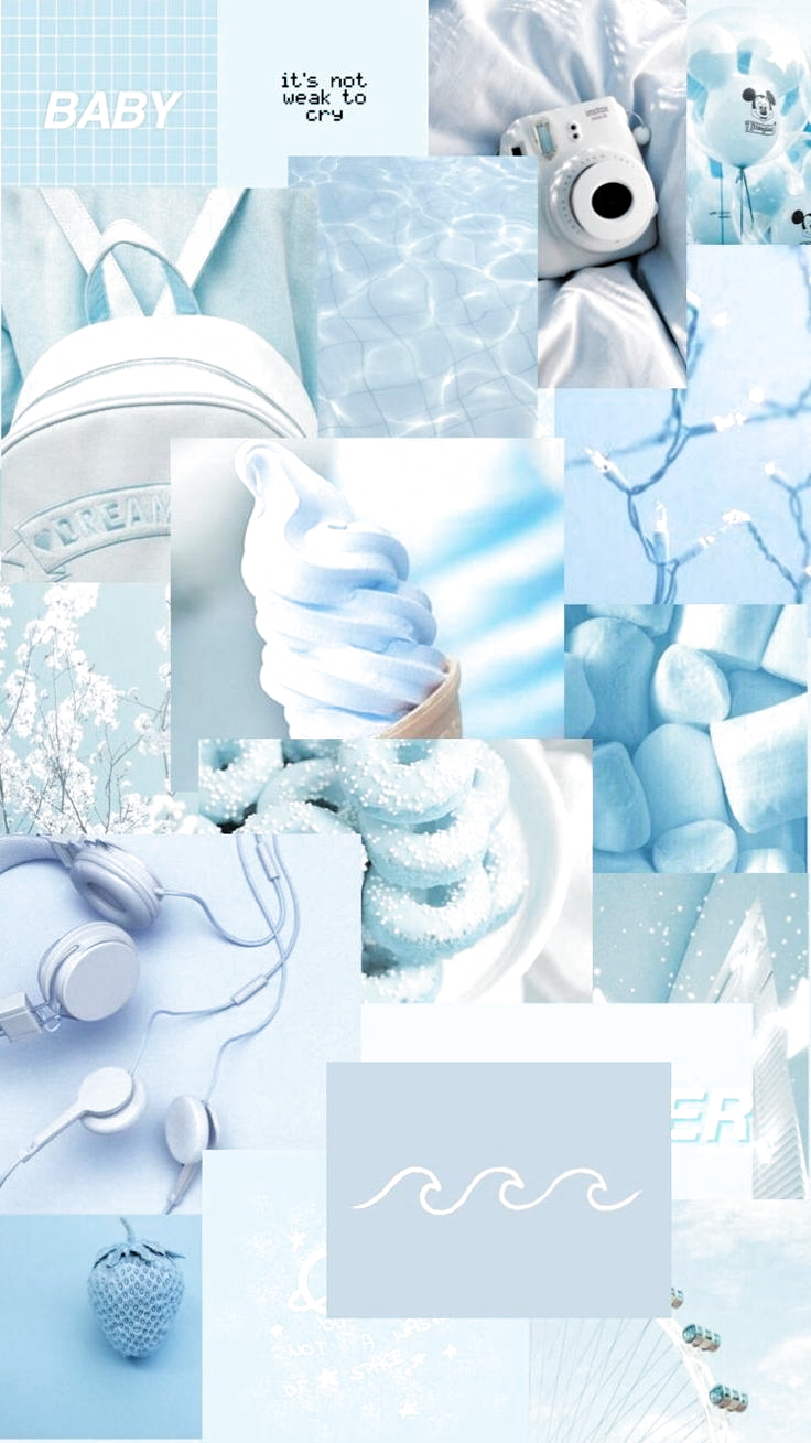 Tumblr Cute Blue Aesthetic Background