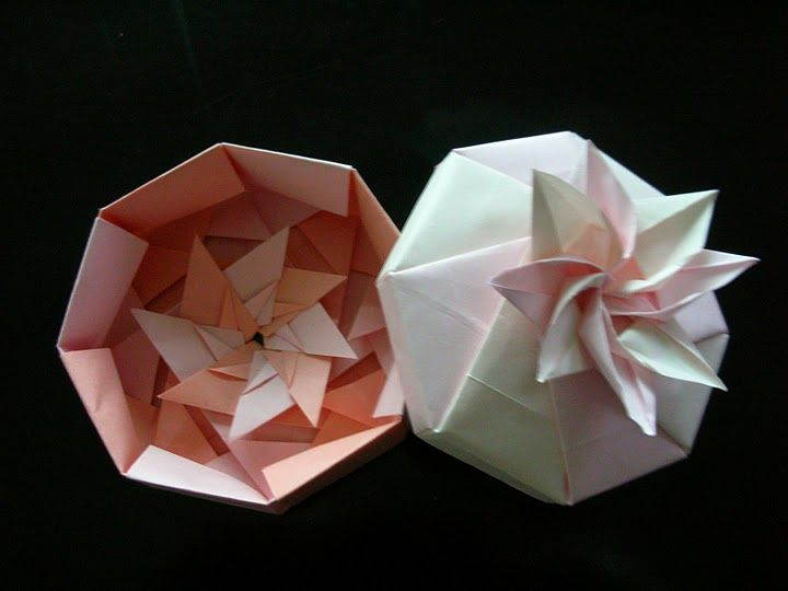 Origami box octagon flower origami pinterest origami origami box octagon flower mightylinksfo