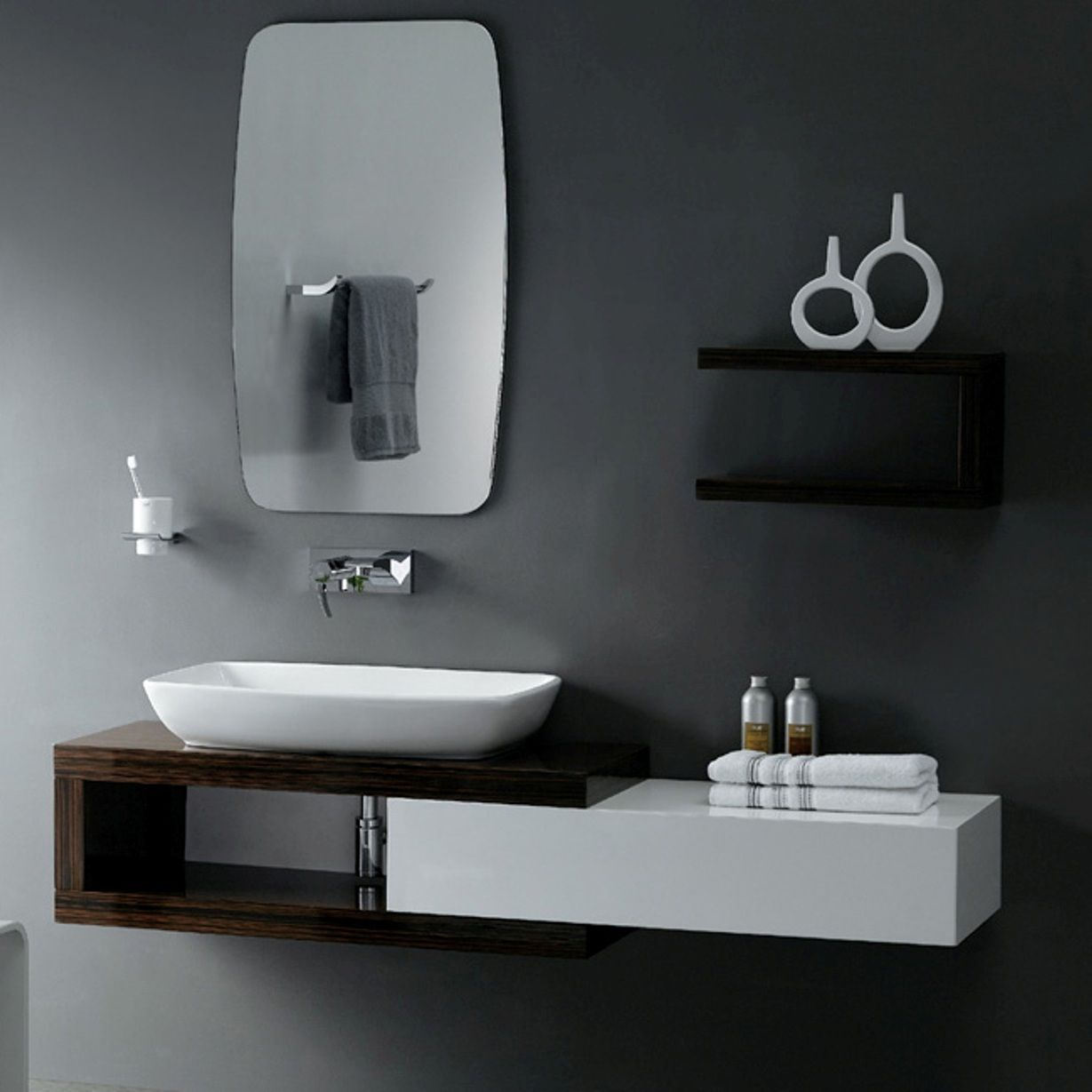 Bathroom  The Modern Bathroom Vanity  Cool Black And White Adorable Modern Bathroom Vanity Review