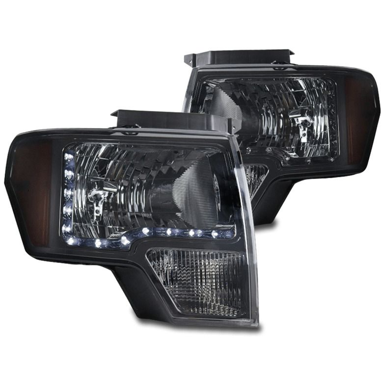 Ad Ebay For 09 14 Ford F 150 F150 Led Headlight Headlamp Lamp Smoke Left Right Pair Set Replacement Headlights Headlamp Ford F150