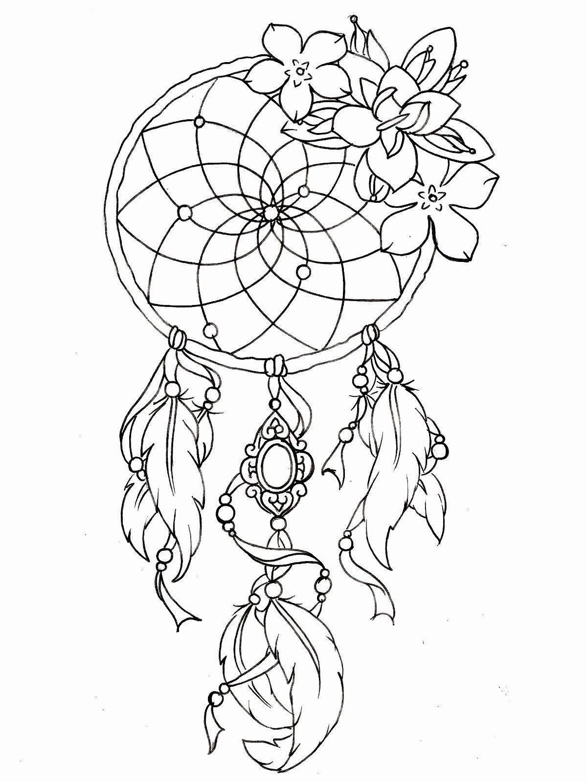 Dream Catcher Coloring Page Beautiful Dream Catcher Coloring Page Dream Catcher Tattoo Design Dream Catcher Coloring Pages Tattoo Coloring Book