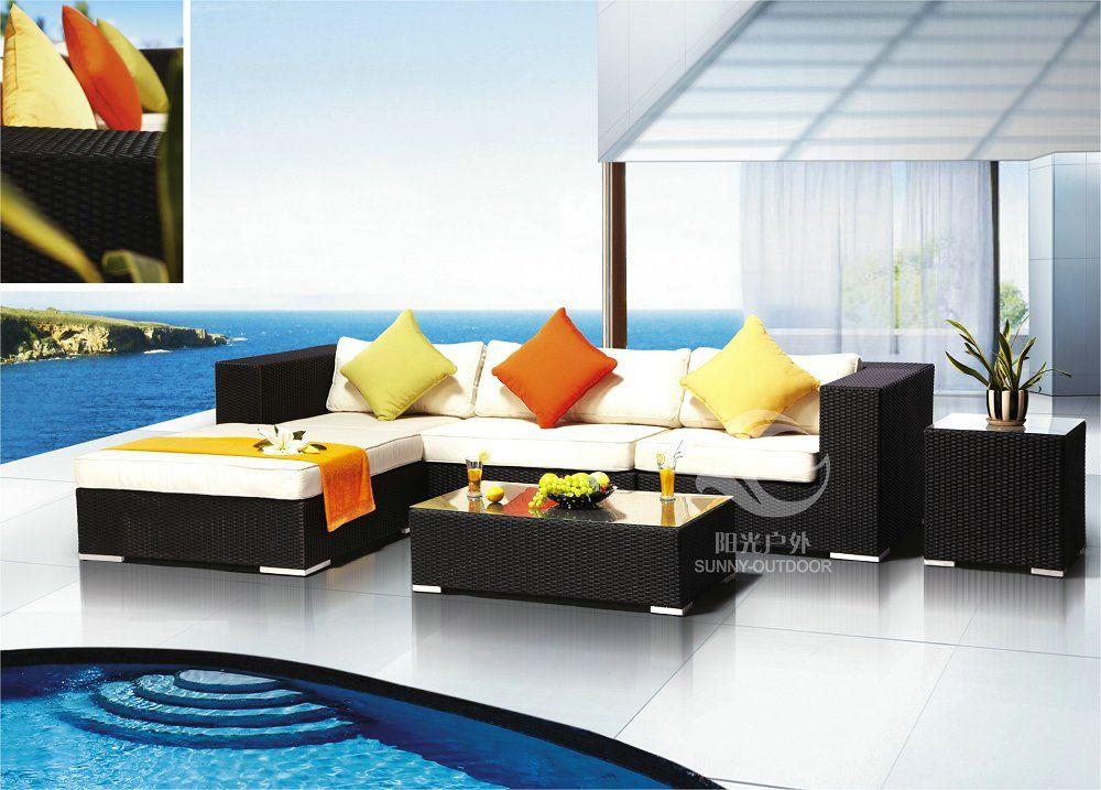 Alta calidad moderna outdoor muebles muebles de jardín sofá ...