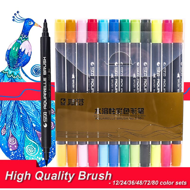 Graphic Drawing Sketch Art Marker Manga Water Based Pigment Ink