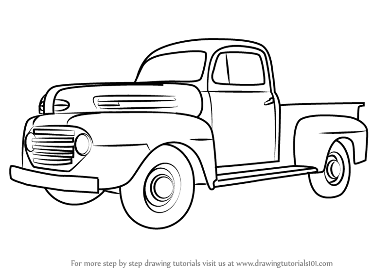 learn how to draw vintage truck v2  vintage  step by step