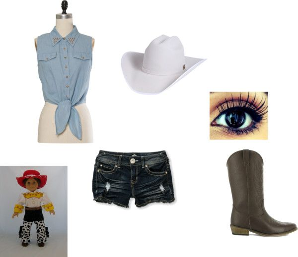 """wanna be cow girl"" by lizzy-lentsch ❤ liked on Polyvore"