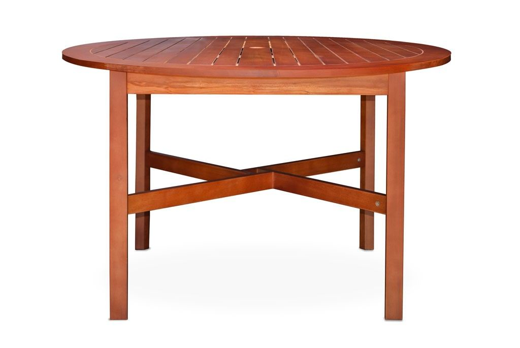 Urban Home Bridgeport Patio Table Let Friends And Family Relax In Comfort Around The Crafted Of Teak With A Warm Brown Finish