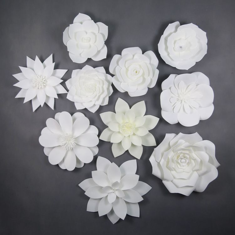 Hot selling white giant paper flower wall artificial wedding hot selling white giant paper flower wall artificial wedding decoration white foam flower wall mightylinksfo Images