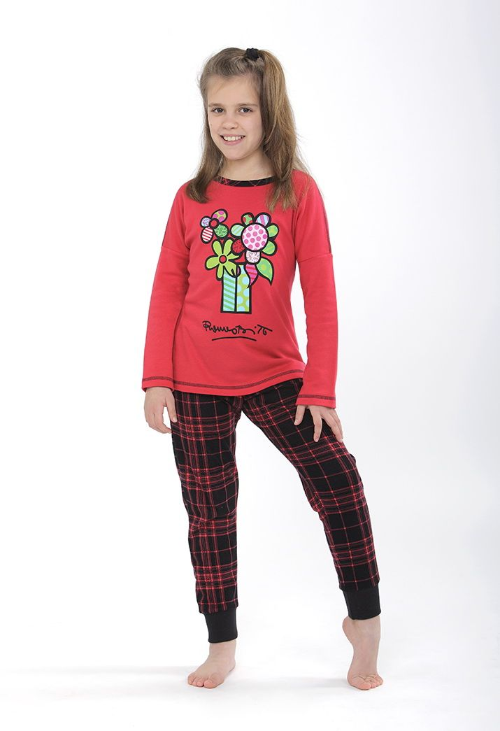 Colorful flowers pijama de Britto by Massana Kids