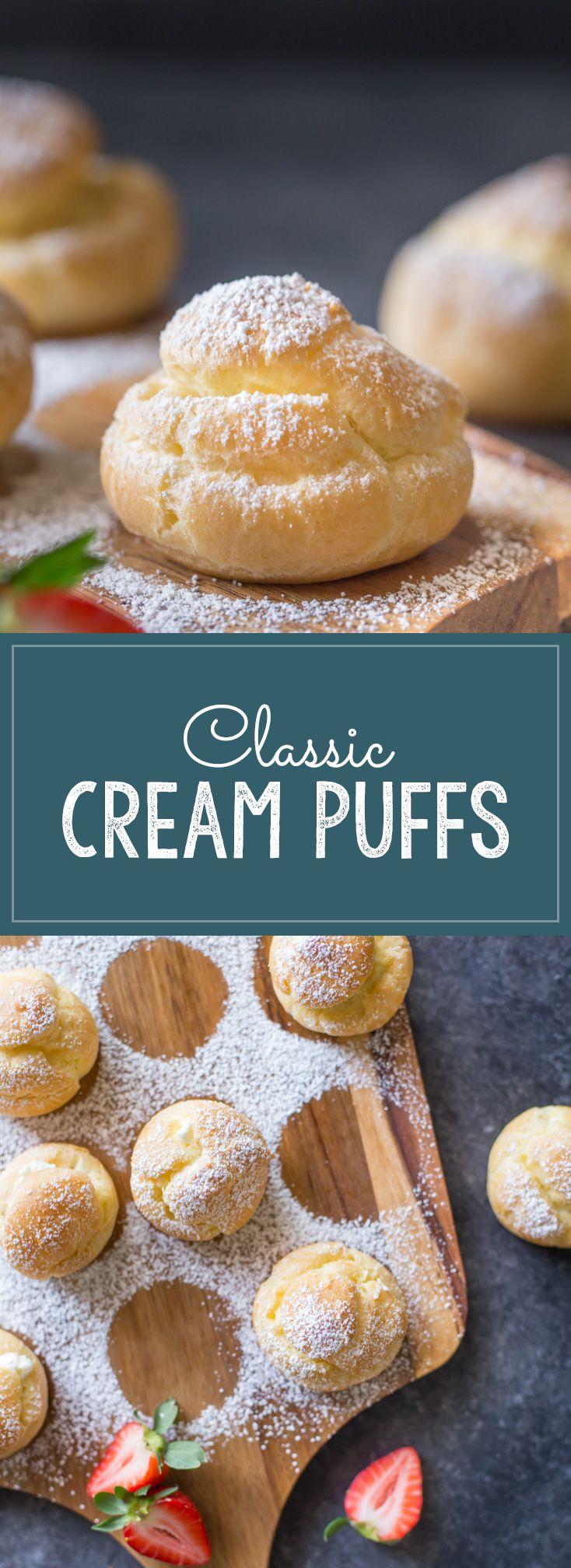 Classic Cream Puffs | Vanilla whipped cream, Homemade vanilla and ...