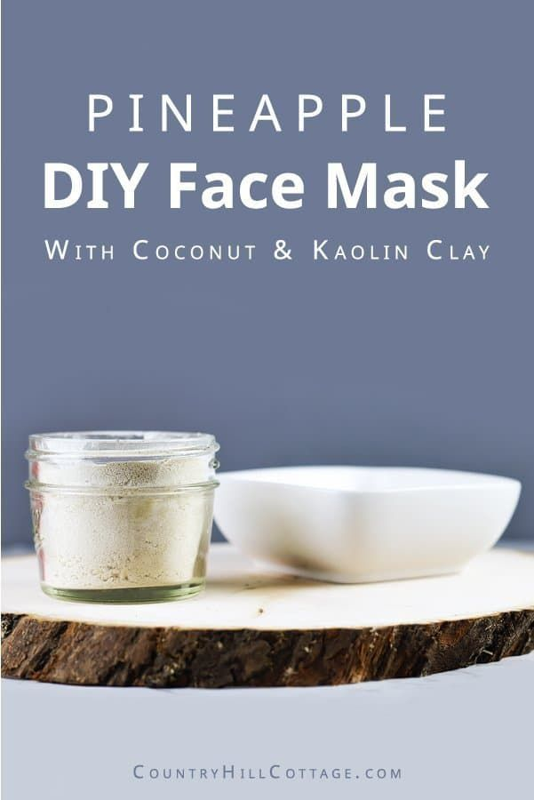 Pineapple Face Mask  DIY Brightening Face Mask Recipe is part of Face mask recipe - Brighten your skin and moisturize with this hydrating and brightening DIY pineapple face mask recipe with pineapple, coconut milk, and kaolin clay