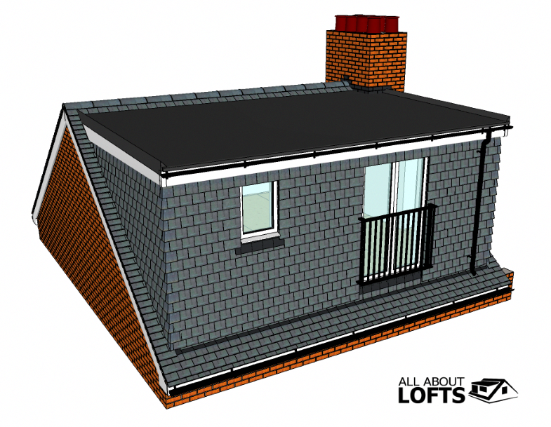 Types Of Loft Conversions Flat Roof Dormer Loft Conversion Modelled From Drawings Or Plans Loft Conversion Plans Dormer Loft Conversion Loft Conversion
