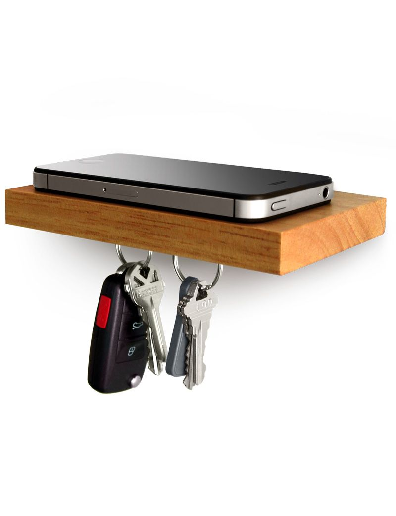 Small Floating Shelf plank - phone. wallet. keys. sunglasses. keep all your essentials