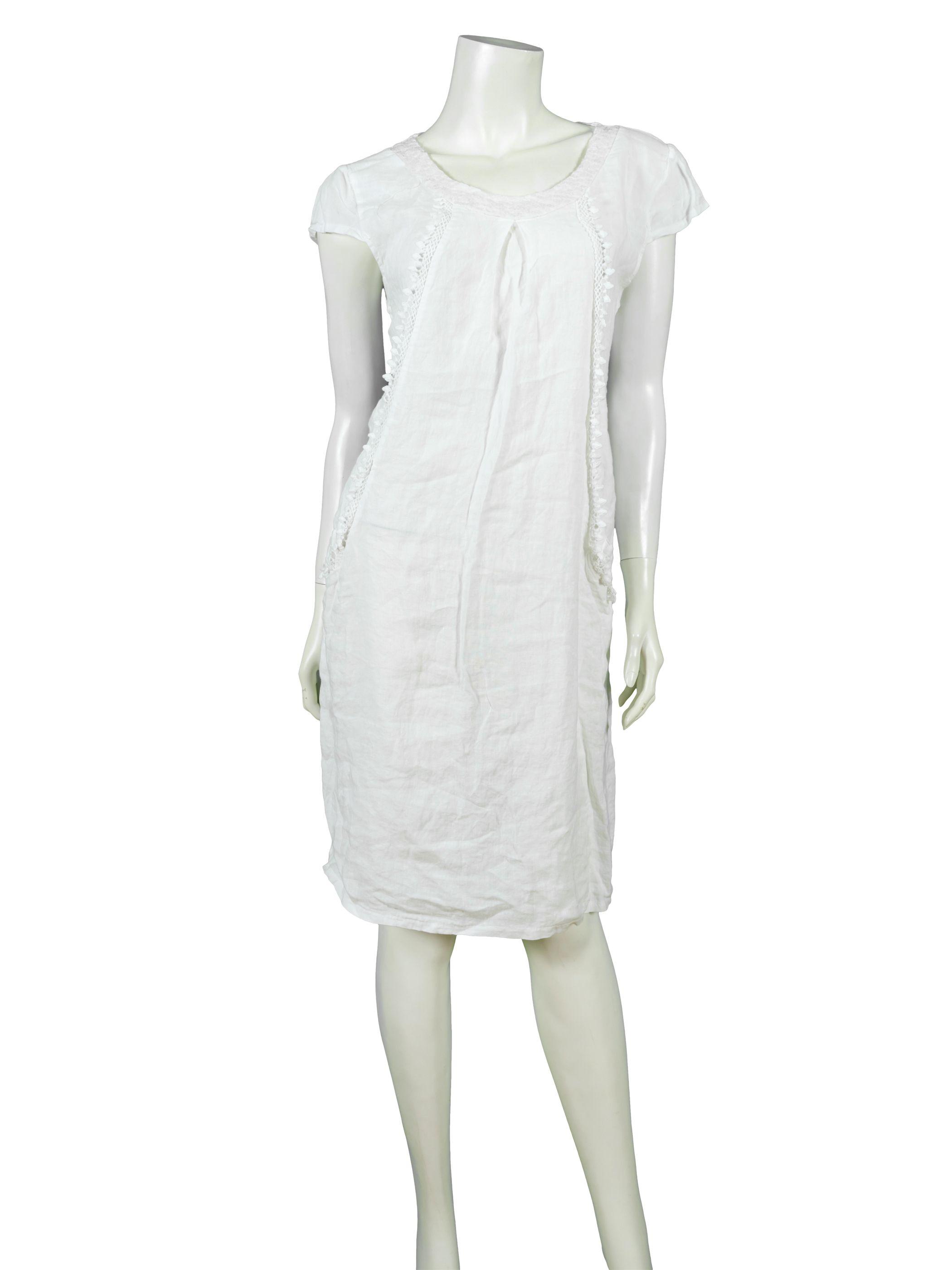 leinenkleid, weiss - esvivid | kleider, leinenkleid, kleid