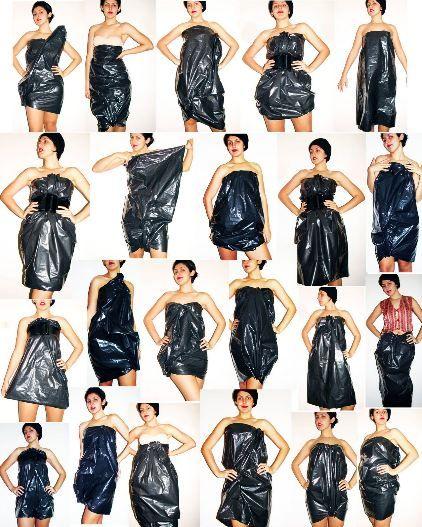 Sac poubelle style papier journal pinterest - Deguisement sac poubelle ...