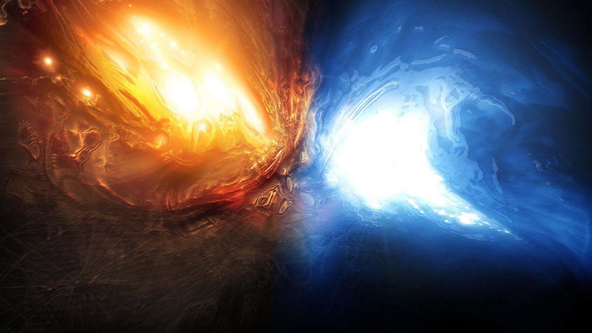 Fire and water wallpaper | Download Wallpaper | Pinterest ...