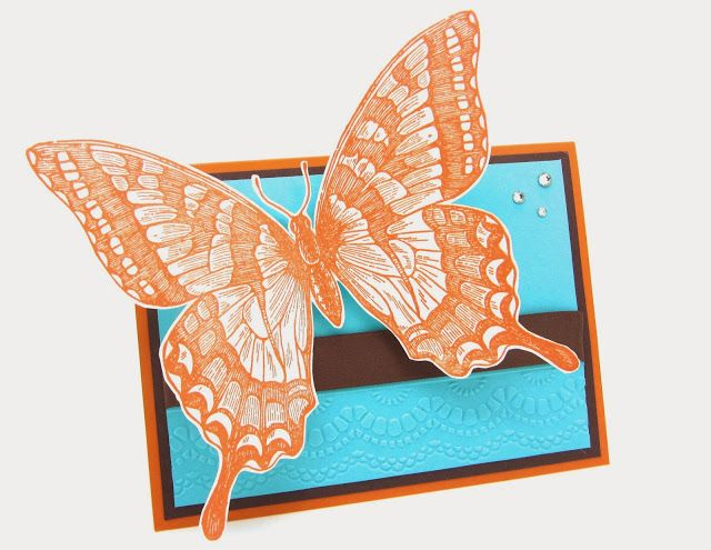 Everything will be OK with the Swallowtail Butterfly stamp from Stampin' Up! I love this stamp:)