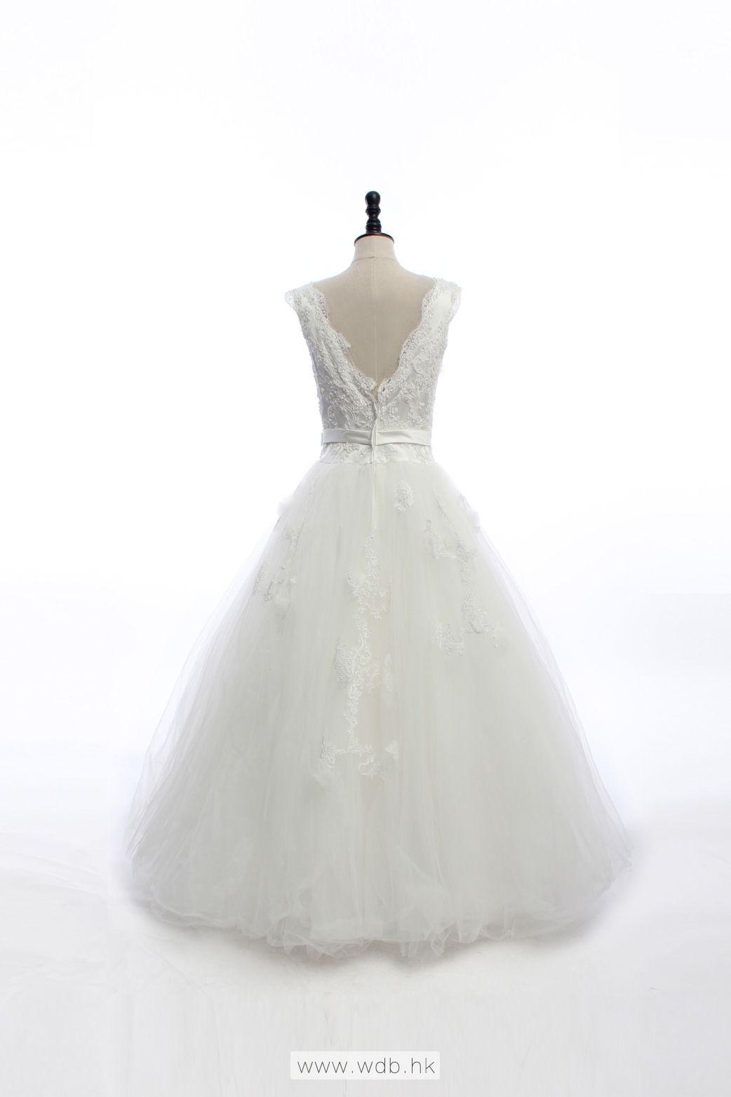 Straps Ball Gown Net charming wedding dress $359.8