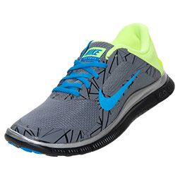 newest b4ba4 4702d Men s Nike Free 4.0 Print Running Shoes   FinishLine.com   Cool Grey Blue  Hero