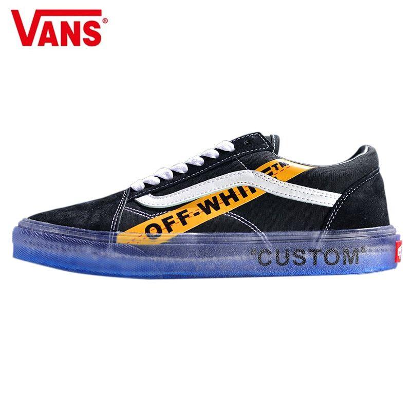 Vans OFF WHITE x Old Skool CE Y62 Virgil Abloh Classic Men and Womens